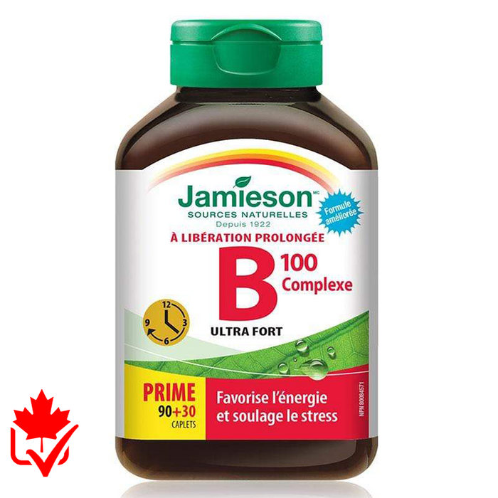 Jamieson B-Complex 100mg Time Release 120 tabs