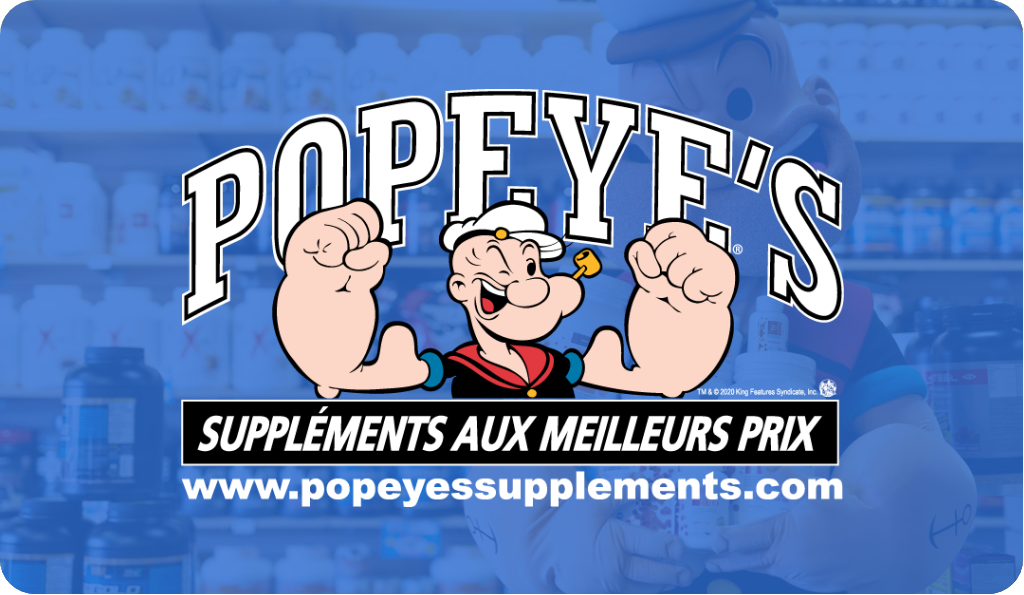 Certificat cadeau Popeye's Suppléments || Popeye's Supplements Gift Card