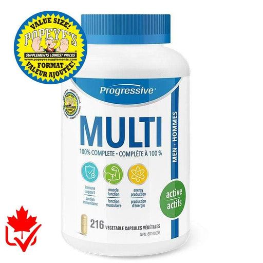 Progressive Multivitamin Active homme 216 caps 837229007530