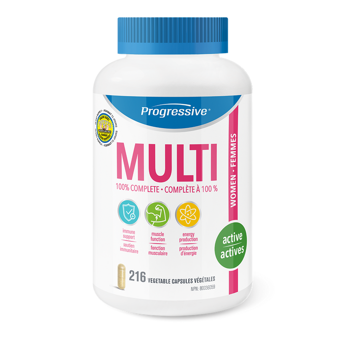 Progressive Multivitamin femme 216 caps || Progressive Multivitamin Women 216 caps