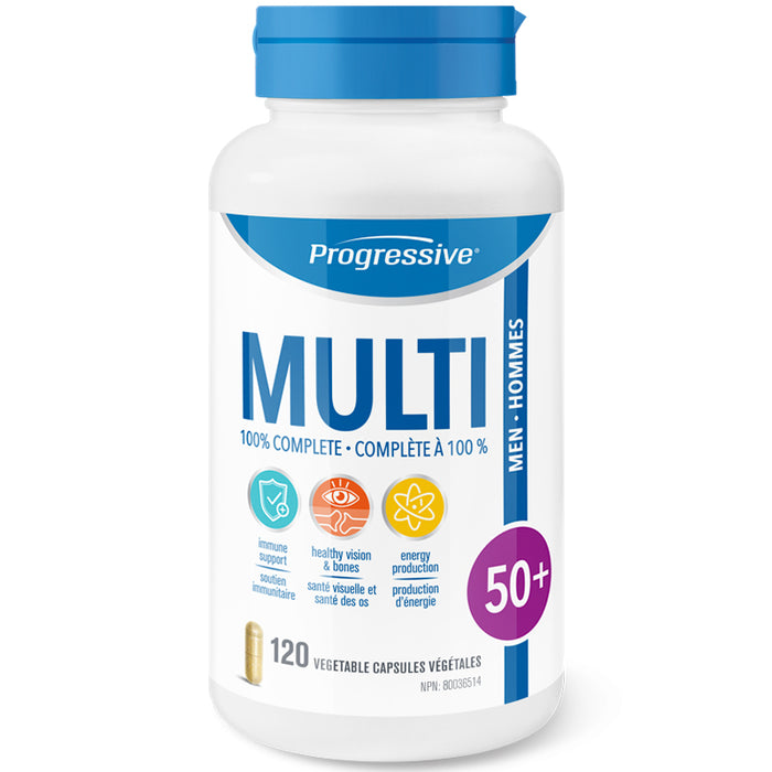 Progressive Multivitamin homme 50+ 120 caps || Progressive Multivitamin men 50+ 120 caps