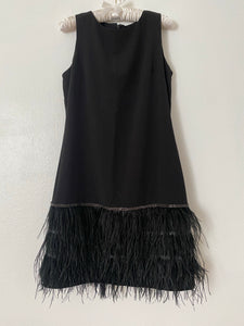 Roaring 20s Black Feathered Dress