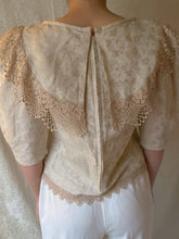Load image into Gallery viewer, Victorian 80s Embroidered Floral Lace Blouse - Sally De La Rose