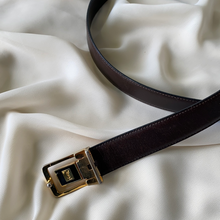 Load image into Gallery viewer, Vintage Yves Saint Laurent Belt With Changing Emblem