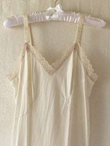 Vintage Ivory Nylon Lace Night Gown - Sally De La Rose