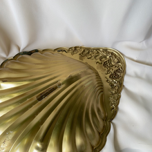 Load image into Gallery viewer, Large Vintage Brass Shell Serving Tray