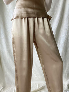 Vintage Golden Satin Pants