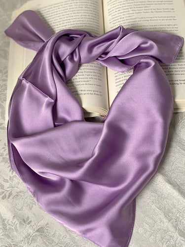 Lavender Dreams Square Satin Scarf - Sally De La Rose