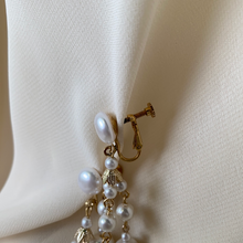 Load image into Gallery viewer, Vintage Hanging Pearl Clip Ons