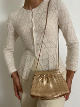 Load image into Gallery viewer, Antique Gold Toned Mesh Purse