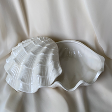 Load image into Gallery viewer, Vintage Ceramic Shell Style Plate Shell Blue White Porcelain bowl