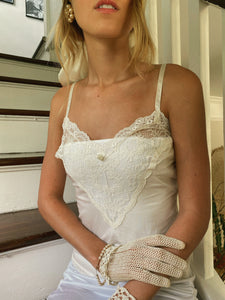 Vintage Slip Top With Lace Detail
