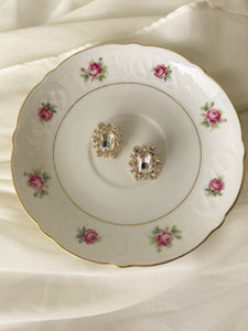 "Vintage Schumann Arzberg Germany 6"" Rose Charger Plate"