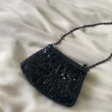Load image into Gallery viewer, Vintage Mini Black Mesh Coin Purse