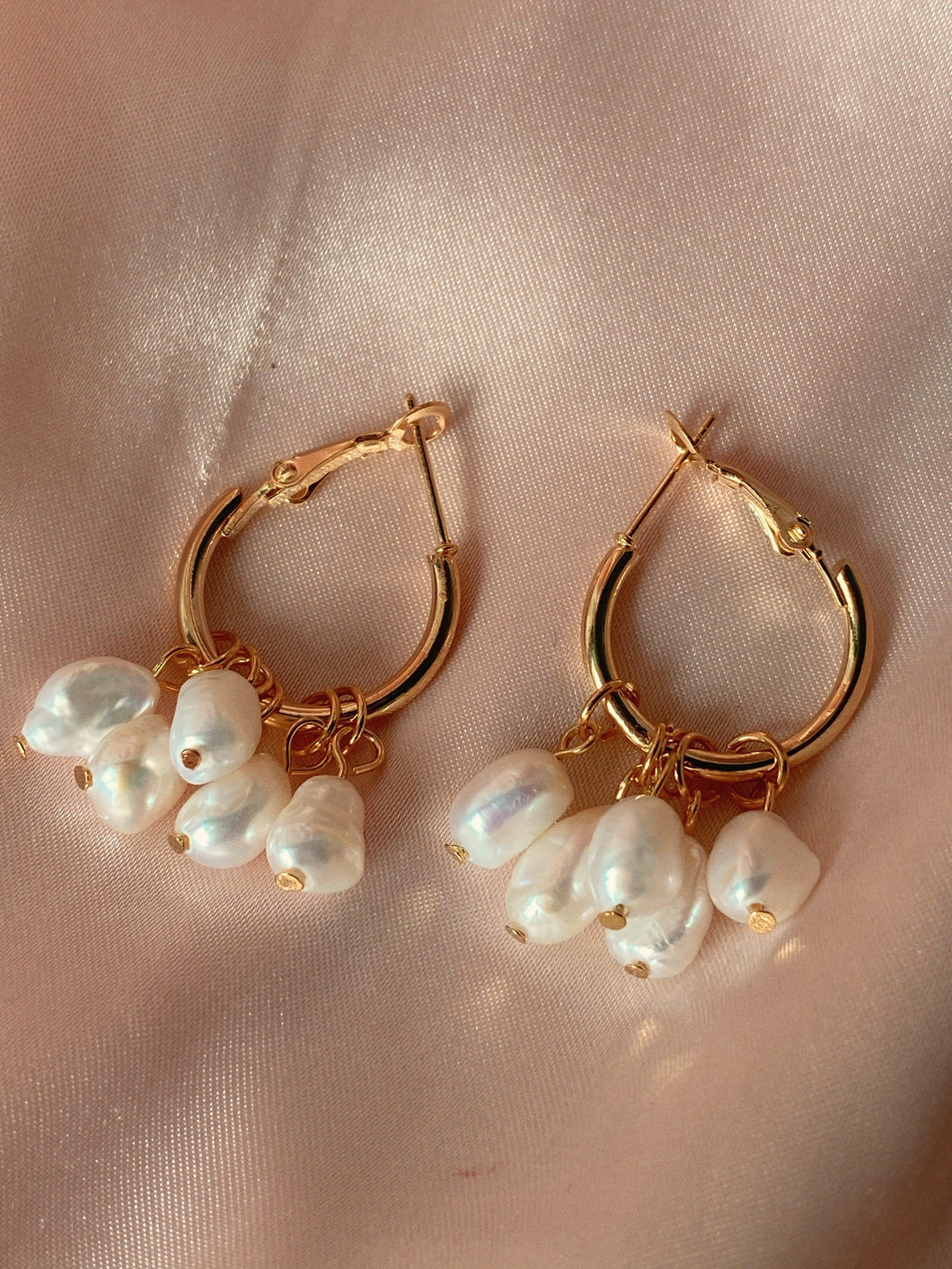 Estelle Drop Pearl Earrings
