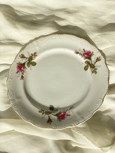 Vintage Floral Plates Set of 2 ( Large)