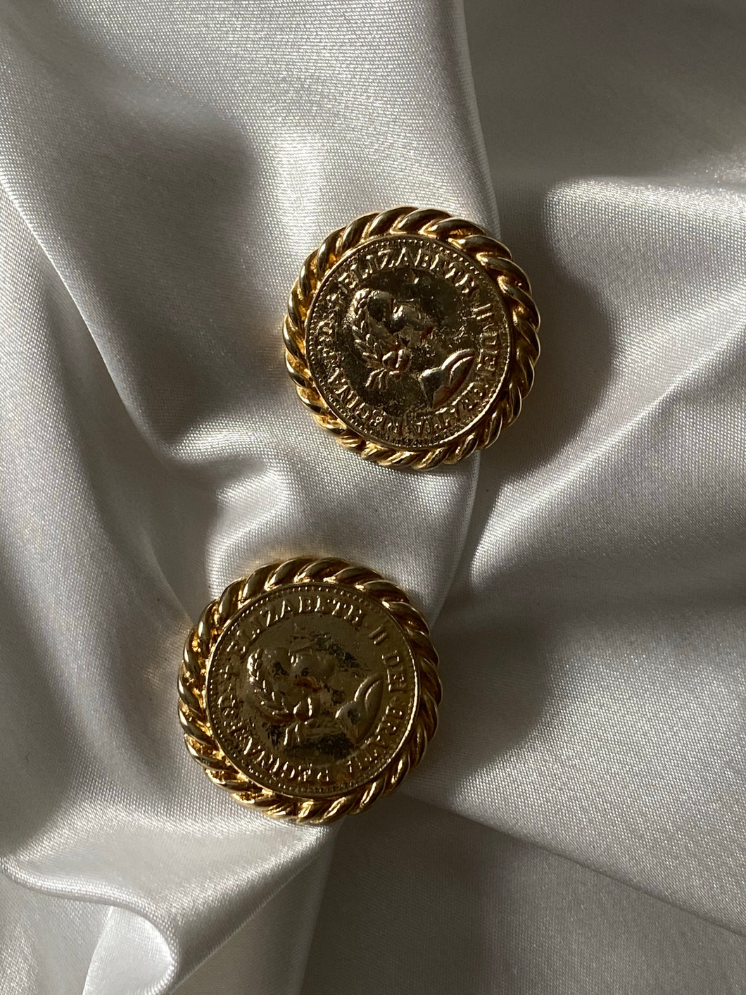 Vintage 80's Gay Boyer Coin Clip On Earrings - Sally De La Rose