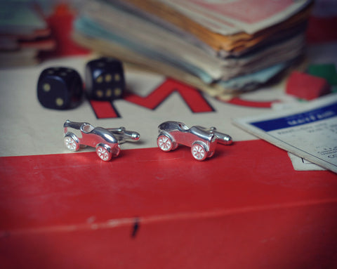 1930's racing car cufflinks