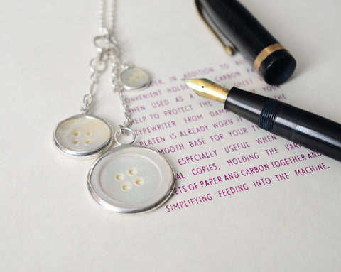 Three Chatelaine button necklace