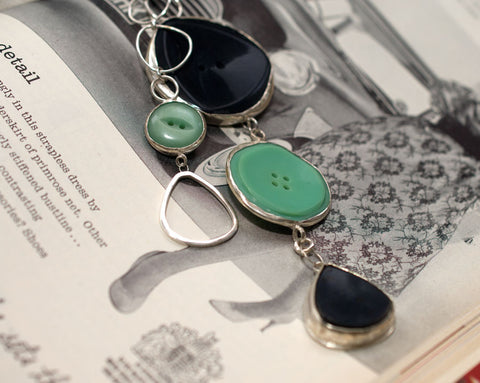 Cascade four button necklace (one-off)