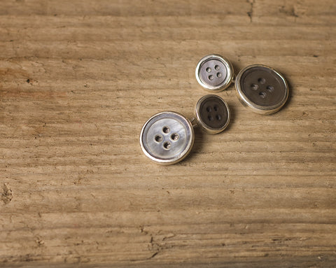 Dark double button cufflinks large