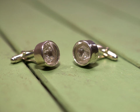 Glass cufflinks (one-off)