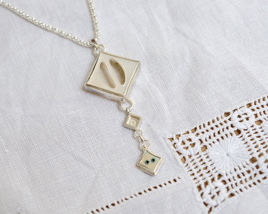 Mother of pearl buckle necklace (one-off)