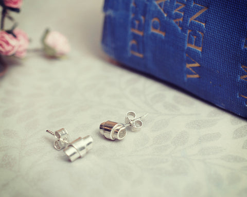 Tiny taper stud earrings