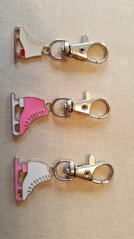 Figure Skate Key Chain