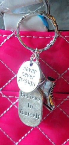 Silver Inspirational Key Chain