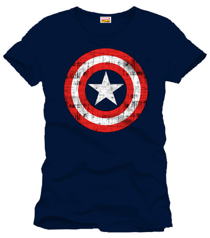 Captain America T-Shirt Shield Logo navy Gr. L