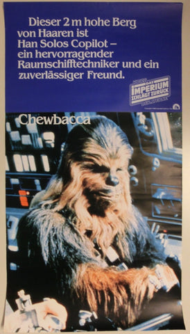 Star Wars Filmplakat Chewbacca