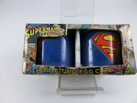 2 Eierbecher Superman Logo