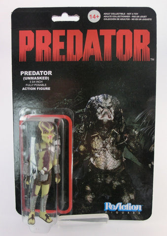 Predator Actionfigur 10cm unmasked Reaction Funko