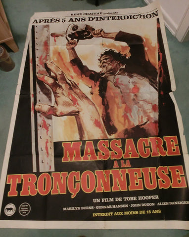 Texas Chainsaw Massacre French Grande ( 158 x 108 cm)