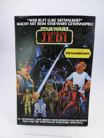 Return of the Jedi Preisauschreiben-Flyer mit Comic
