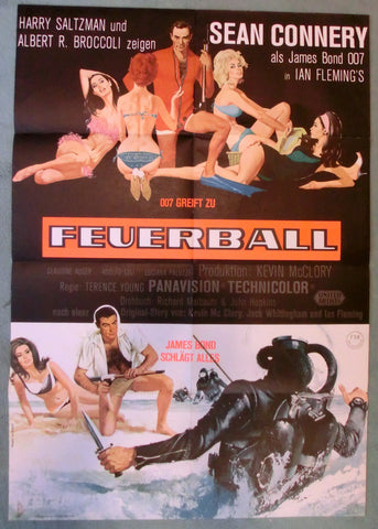 Feuerball - James Bond - Originalplakat A1