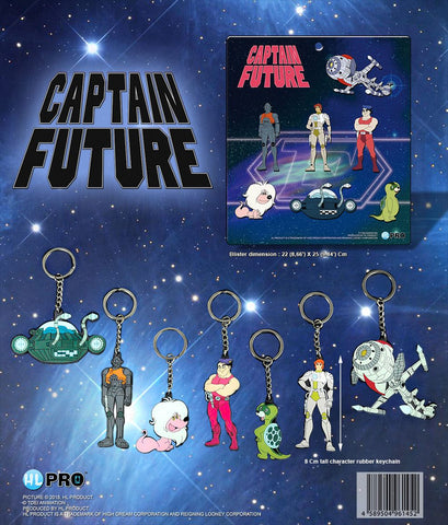 Captain Future Gummi-Schlüsselanhänger Collector's Set
