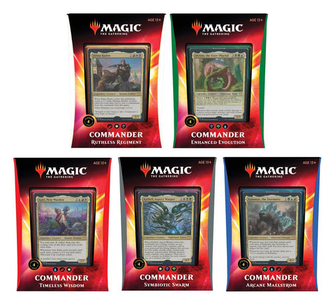 Magic the Gathering Ikoria: Lair of Behemoths Commander 2020 Decks Display (5) englisch