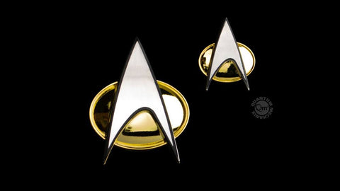 Star Trek: TNG Ansteck-Pin & Ansteck-Button Set Communicator