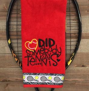 19 Tennis Towels as Shown with Name