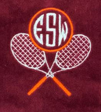 Load image into Gallery viewer, Cross Racquets Monogrammed Tennis Towel