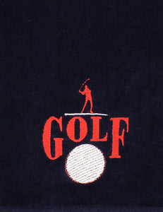 "Grommet Navy ""GOLF"" Embroidered Golf Towel with Grommet"
