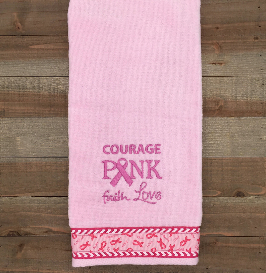 On Sale** Courage Embroidered Tennis Towel