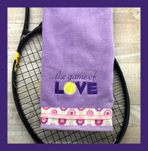 Load image into Gallery viewer, The Game of Love Tennis Towel