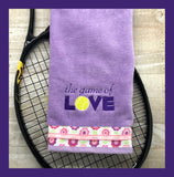 The Game of Love Tennis Towel