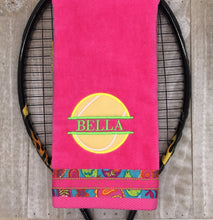 Load image into Gallery viewer, Name Drop with Applique Personalized Tennis Towel