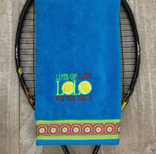 Load image into Gallery viewer, LOL Embroidered Tennis Towel