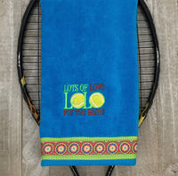 LOL Embroidered Tennis Towel