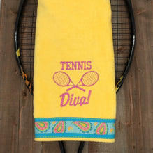 Load image into Gallery viewer, Tennis Diva Tennis Towel